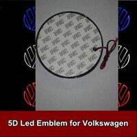 1pcs 11cm 5D Rear Emblem Light Car Logo Bulb For Volkswagen VW Golf Magotan CC Tiguan