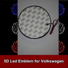 1pcs 11cm 5D Rear Emblem Light Car Logo Bulb for Volkswagen VW Golf Magotan CC Tiguan Bora Scirocco Car Styling