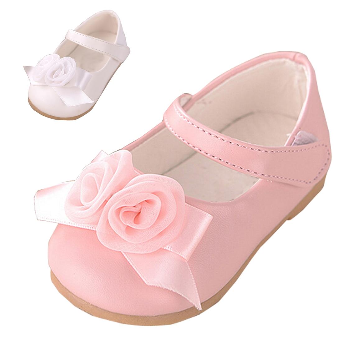 Kinder Rosa Baby Mädchen Nette Frühling Blumen Schuhe 80vnwOmN