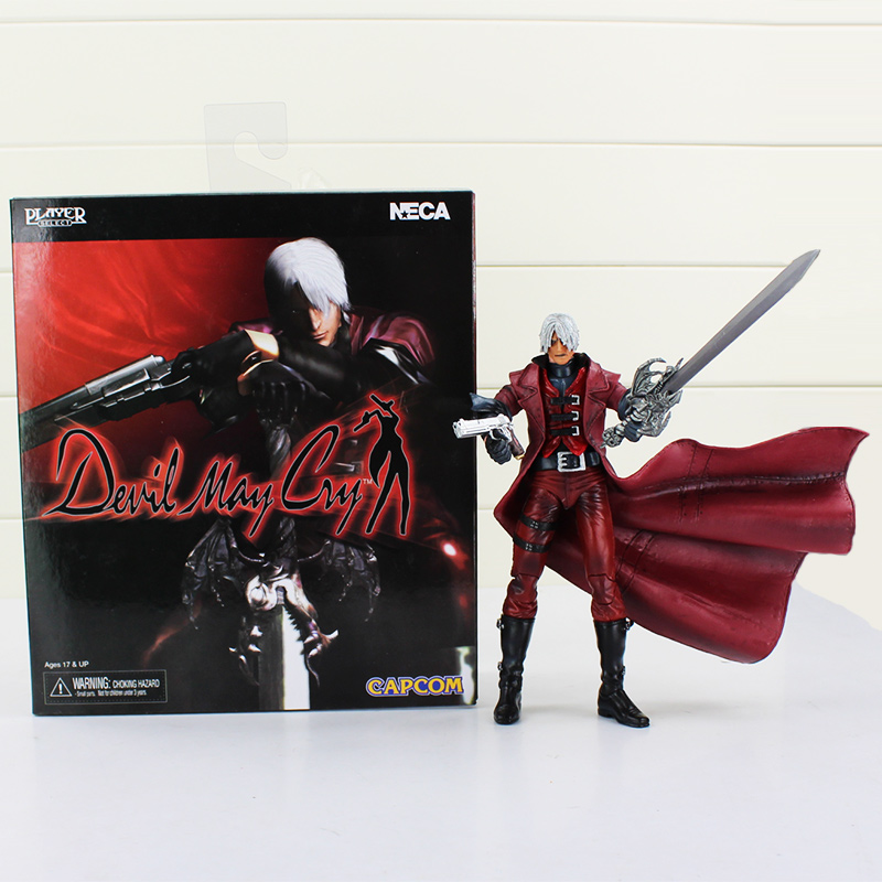 Boxed 20cm NECA Devil May Cry Dante movable PVC Figure model toy devil may cry 4 dante cosplay wig halloween party cosplay wigs free shipping