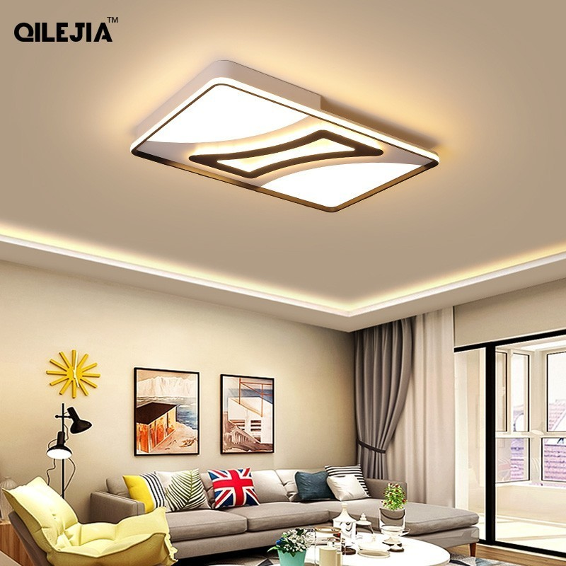 Led ceiling lamp simple modern 2019 new creative personality master bedroom lighting atmosphere rectangular living room lampLed ceiling lamp simple modern 2019 new creative personality master bedroom lighting atmosphere rectangular living room lamp