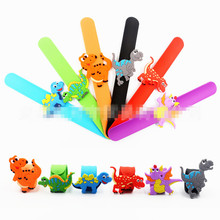 Jiangzimei 24pcs Cartoon dinosaur clap circle birthday party small gift factory spot direct sales for Kid Children Girl