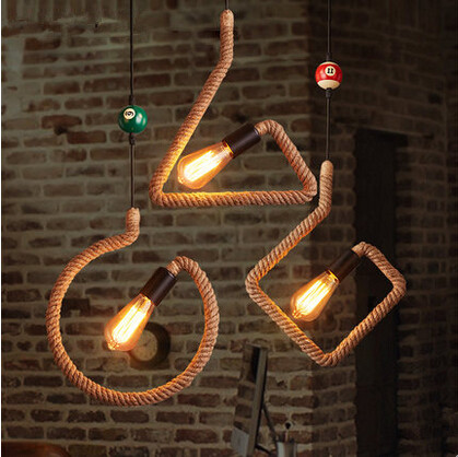 Creative Retro Loft Style Pendant Light Vintage Hemp Rope Hanging Lamp Fixtures For Home Lightings Bar Cafe Suspension Luminaire loft style vintage pendant lamp iron industrial retro pendant lamps restaurant bar counter hanging chandeliers cafe room