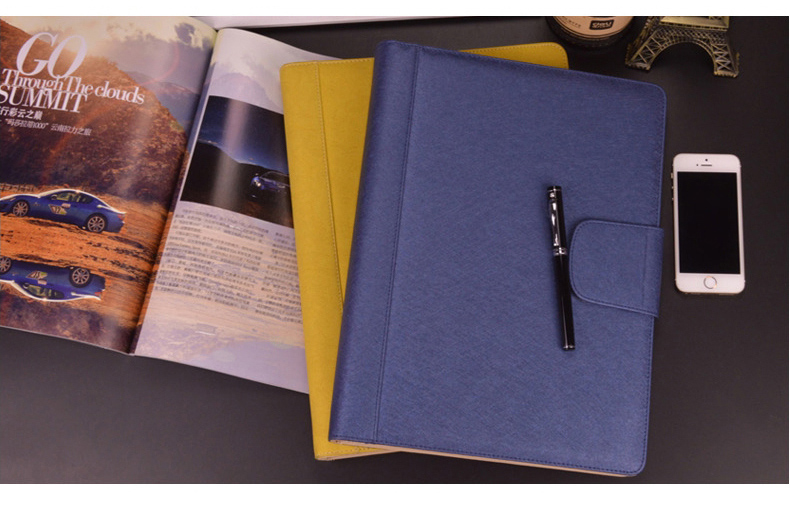 A4 PU Leather Hasp Lock Business Manager File Folder Work Agreement Document Report Folders Course Clip Manual Clamp 1083B