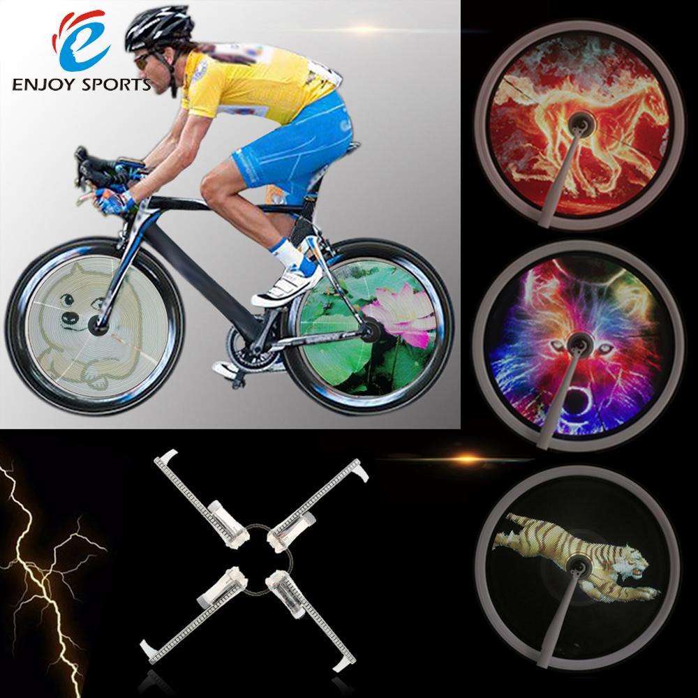 Resolution Brightness 2000cd m2 Intelligent Smart Bike Spoke Wheel Light Monitor RGB Display Rechargeable Bicycle Wheel