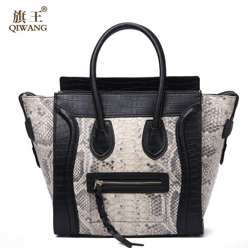 Qiwang femmes classique de luxe en cuir véritable sourire visage sac Chamois sacs à main Bat Wings Lady Smiley fourre-tout sacs célèbre sac à main marque