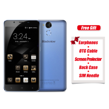 Original Blackview P2 Lite 4G Android 7.0 Smartphone 5.5 Inch MTK6753 Octa Core 3GB+32GB 6000mAh Full HD 13.0MP OTG Metal Phone