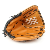 Outdoor Sports Brown Durable Baseball Glove Softball Practice Equipment Left Hand For Adult Man Woman Training