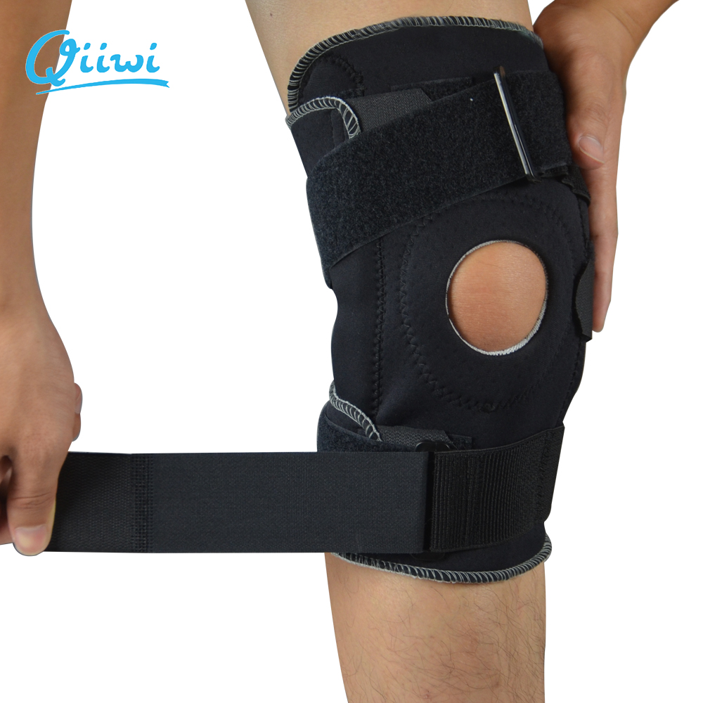 Professional Sports Safety Knee Support Brace Stabilizer with Inner Flexible Hinge Knee Pad Guard Breathable Protector Strap