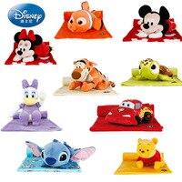 Disney 135X87 Plush Toy Pillow Blanket Three in one Blanket Mickey Minnie Little Gumai Kun Sidi Chivini Toy for children