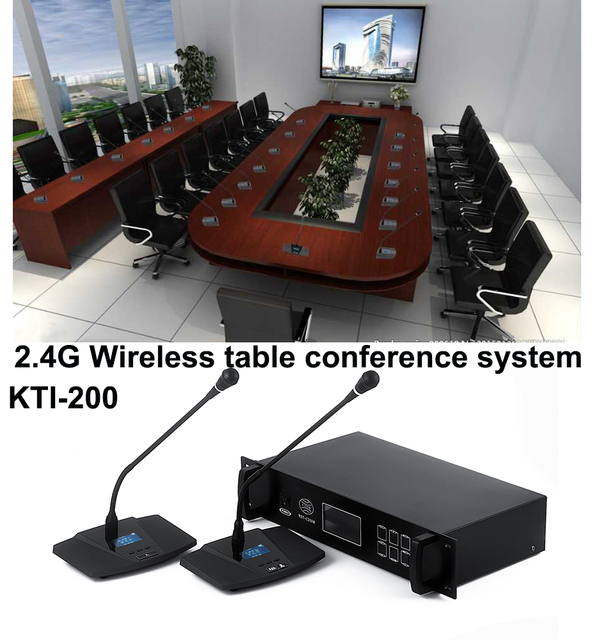 Delegate Unit Table Conference Microphone System 2.4G digital meeting microphone