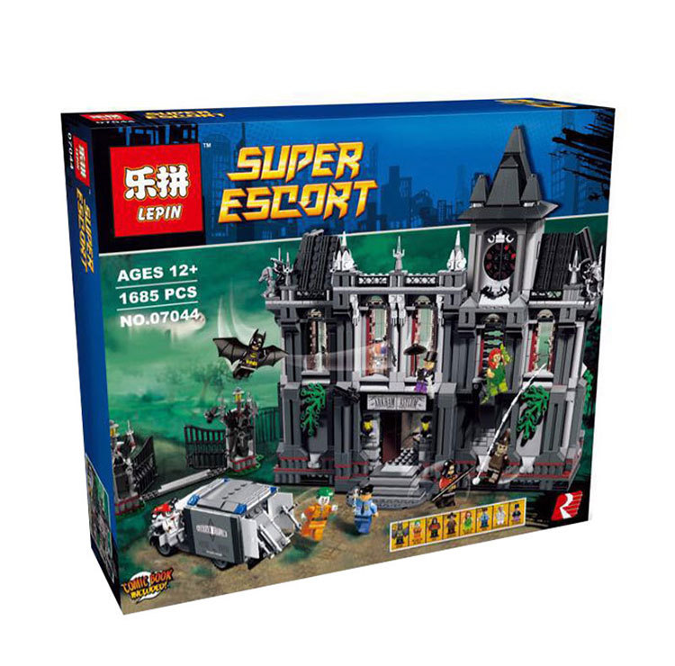 где купить Lepin 1685 unids super hero series  batman asilos establece ninos educativos bloques de construccion ladrillos Compatible 10937 по лучшей цене