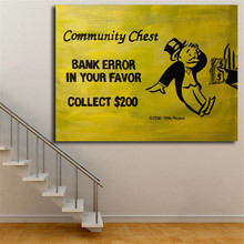 Bank Error In Your Favor By Monopolyingly Canvas Painting Print Bedroom Home Decor Modern Wall Art Oil Poster Framework