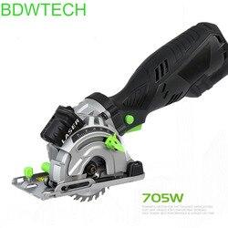 Bdwtch mini serra circular elétrica com laser para madeira cortada, tubo de pvc btc01-705 w com 3 serra circular da lâmina