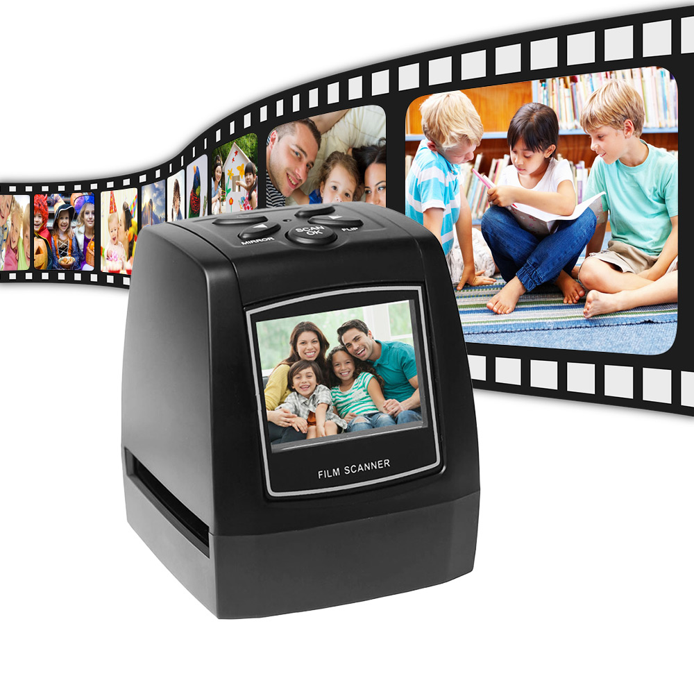 Protable Negative Film Scanner 35mm 135mm Slide Film Converter Photo Digital Image Viewer with Built in Memory Editing Software-in Photo Studio Accessories from Consumer Electronics    2