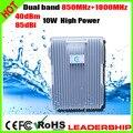 CDMA+DCS 850mhz+1800mhz 10Watts 85dbi Dual band mobile phone signal repeater booster amplifier detector Farm Village Desert U