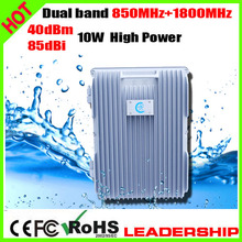 RF CDMA+DCS 850mhz+1800mhz 10Watts85dbi Dual band cellular mobile/cell phone signal repeater booster amplifier detector
