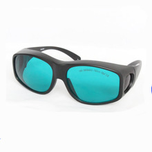 O.D 4+ CE  red laser safety glasses for 635nm 650nm and 660nm lasers with cleaning cloth and black bag цена