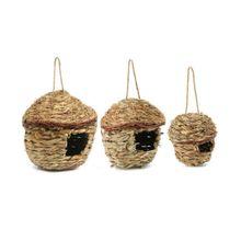S/M/L Птичье гнездо ручное плетение птичья клетка Ручной Работы Соломенная гнездовая клетка Экологичные здоровые экологически чистые птичьи гнезда