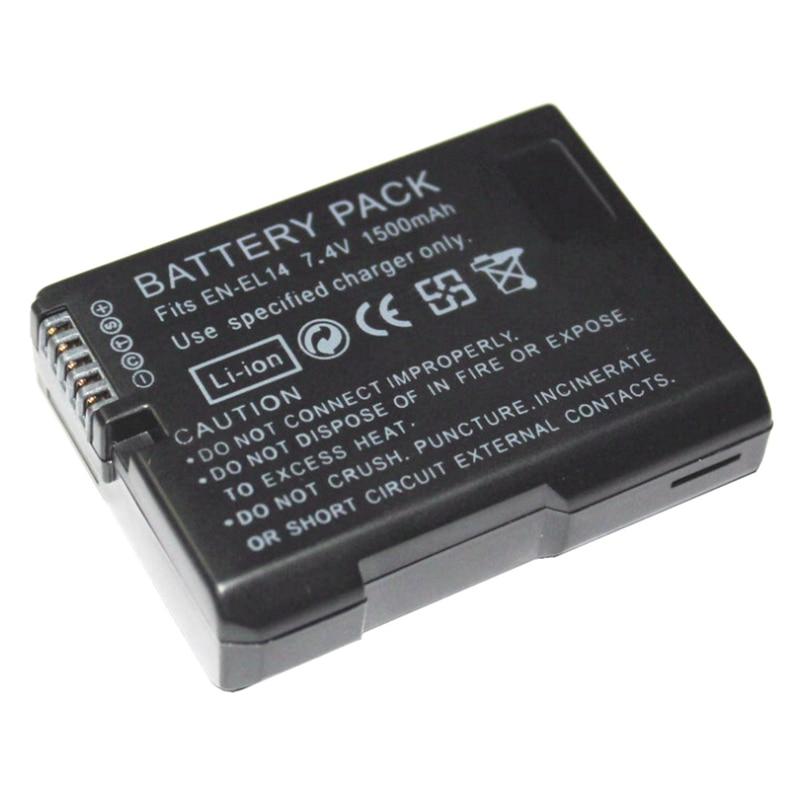 1500mAh EN-EL14 Battery EN-EL14a ENEL14 EL14 for Nikon Coolpix P7800 P7700 P7100 P7000 DSLR D5500 D5300 D5200 D3200 D3300 Camera