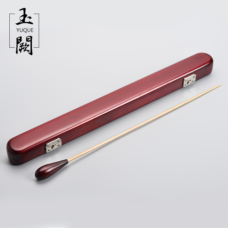 High-Quality Baton Music Gifts Conductor dedicated (handmade box / red sandalwood handle + bamboo stick) dedo music gifts mg 308 pure handmade rotating guitar music box blue