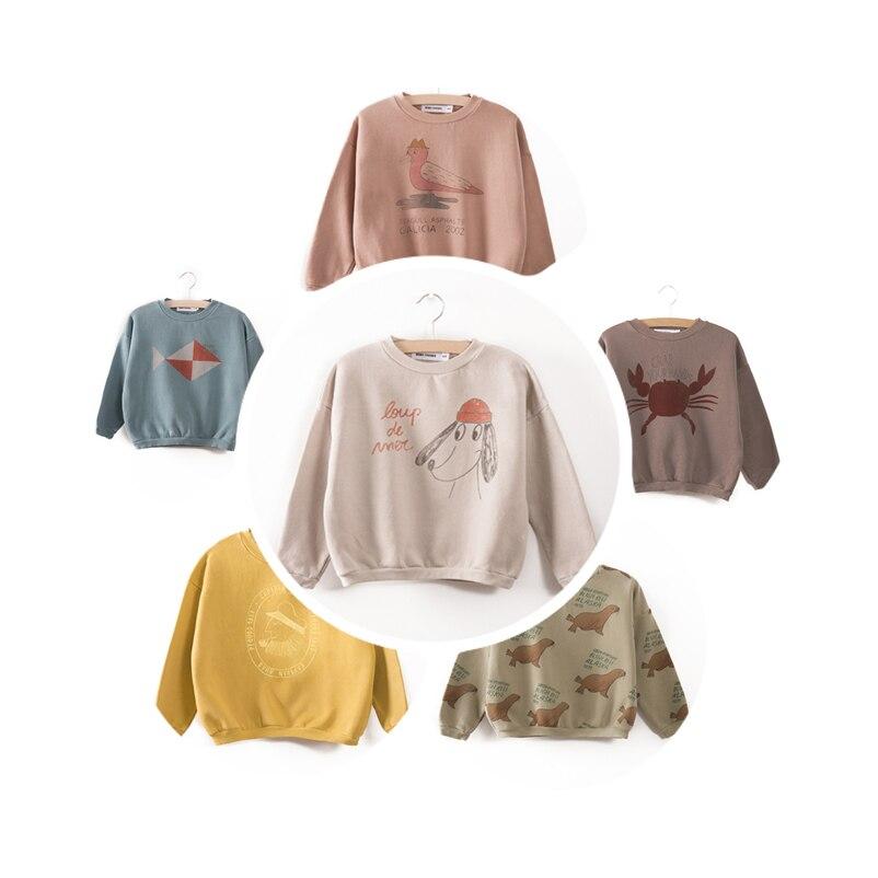 2017 autumn winter dear world sweatshirt for baby boys girls kids clothing