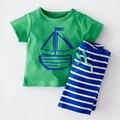 2016 мода детская одежда летний ребенок короткий рукав хлопок мальчик малыша комплектов одежды для мальчиков дети летний комплект одежды
