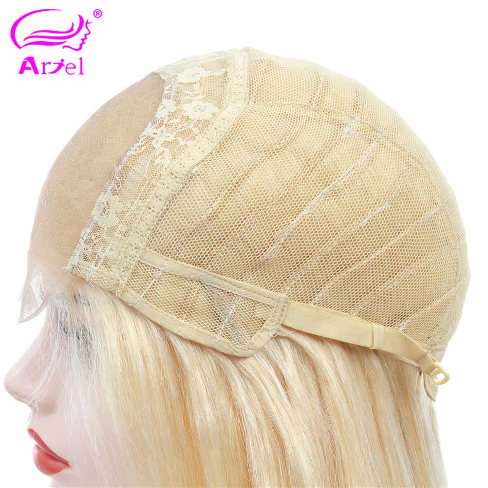 ARIEL 613 парики из натуральных волос на шнурках для черных женщин Remy индийские светлые прямые волосы короткие парики 4*4 парики на шнурках 130% плотность