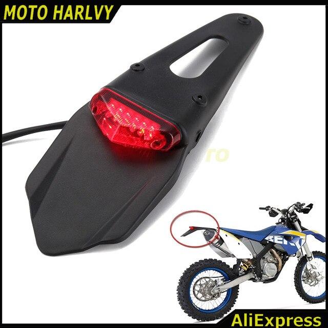 Polisport Motocicleta LED taillight Tail Light & Rear Fender Parar Enduro MX trilha WRF Supermoto PARA KTM EXC CR 250 400 426 450