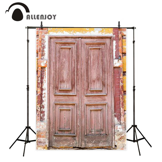 Allenjoy Photo Backdrop Wood Door Brick Wall Bird Vintage Backgrounds Newborn Original Design Photobooth