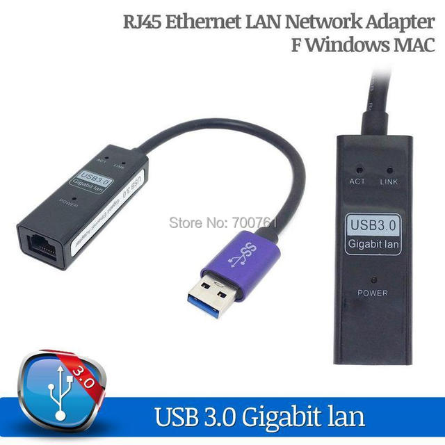 2014 NOVA USB 3.0 para 10/100/1000 Gigabit Ethernet RJ45 LAN Adapter placa de Rede suporte WindowsXP/Vista/Win7/Win8/mac os x10.4