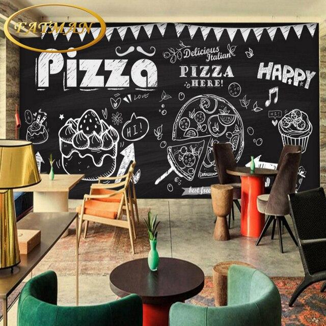 Fototapete Hand malerei pizza kuchen stereoskopischen restaurant ...