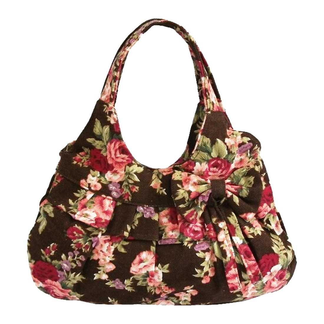 Women canvas Bow printing handbag