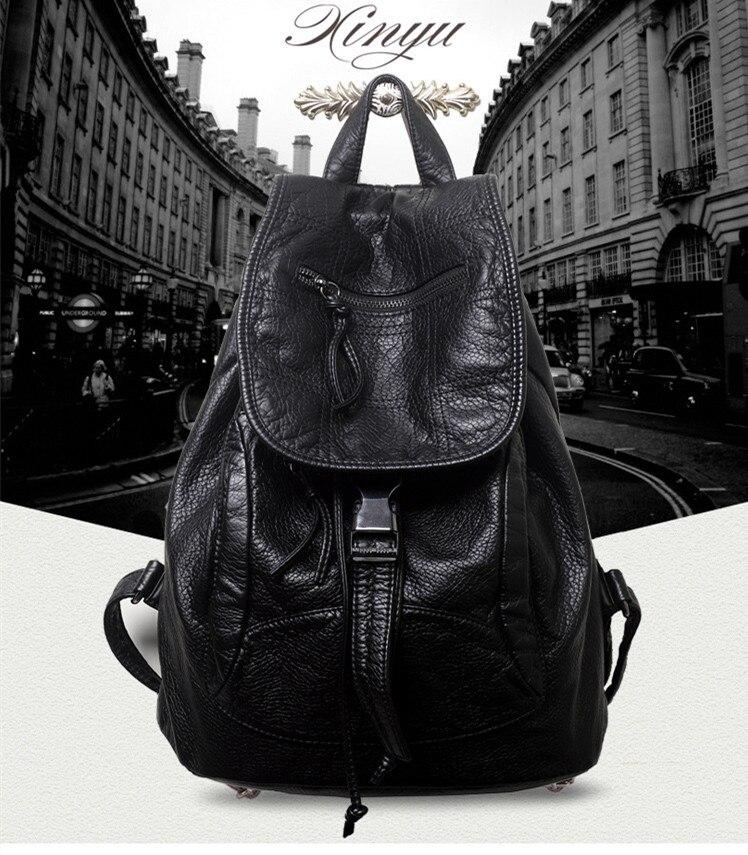 Cheap leather backpack shoulder bag