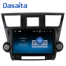 Dasaita 10.2″ Android 7.1 Car GPS Player Navi for Toyota Highlander 2009-2012 with 2G+16G Quad Core Stereo Radio Multimedia HDMI