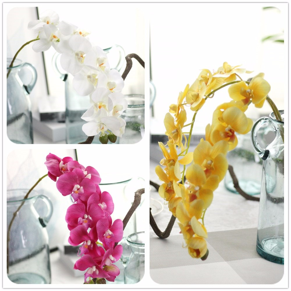 Hot Sale New Artificial Butterfly Orchid Silk Flower Diy Home