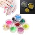 12 Unids Mix Colors Nail Art Glitter polvo del Polvo de Acrílico Del Arte Del Clavo Pigmento de uñas de Manicura DIY Para El UV GEL Nail Art Puntas de Decoración