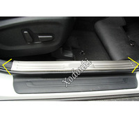 car sticker styling cover pedal door sill scuff plate inner built threshold frame parts 4pcs For Kia Sportage KX5 2019 2020