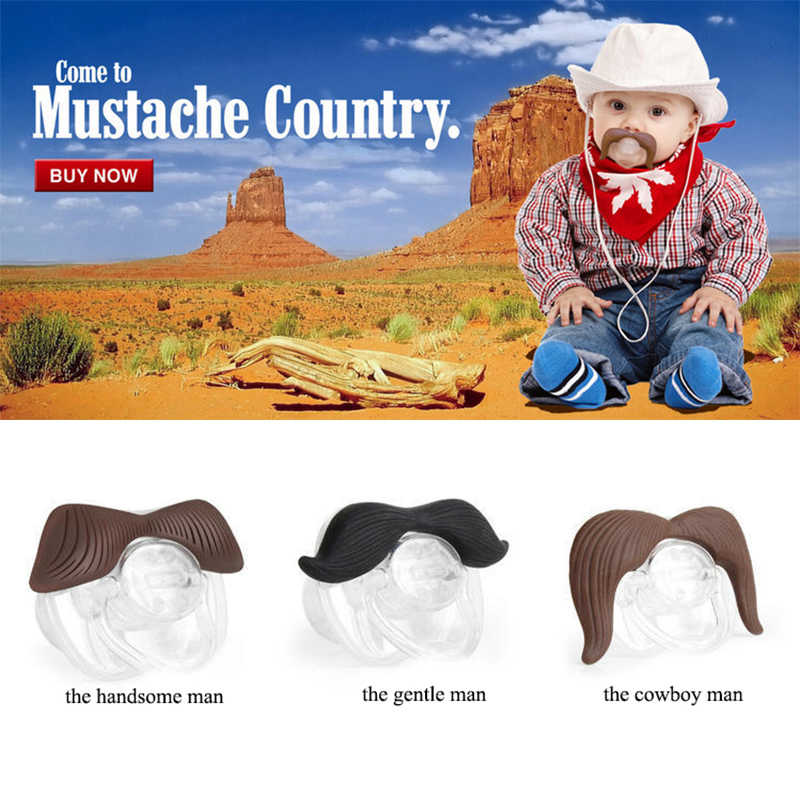 Klip Dot bayi Puting Silikon Lucu Moustache Dot Makan Dummy Ortodonti Soother Bayi Puting Dot Bayi Perawatan