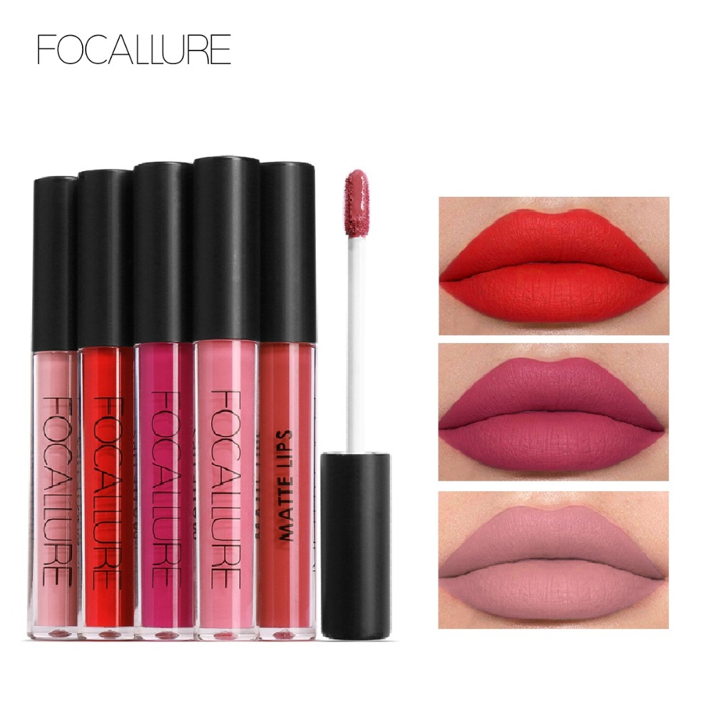 FOCALLURE Matte Lipgloss Sexy Liquid Lip Gloss Matte Long Lasting Waterproof Cosmetic Beauty Keep 24 Hours Makeup lipgloss(China)
