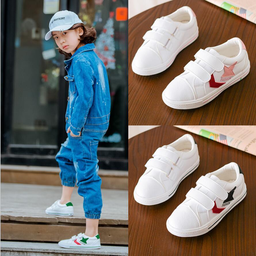 Frühling Herbst Baby Jungen Mädchen Leder Kinder Schuhe Kinder Laufschuhe Flache Mit Schuhe Kinder Nicht-slip Turnschuhe Size26-30 Verschiedene Stile