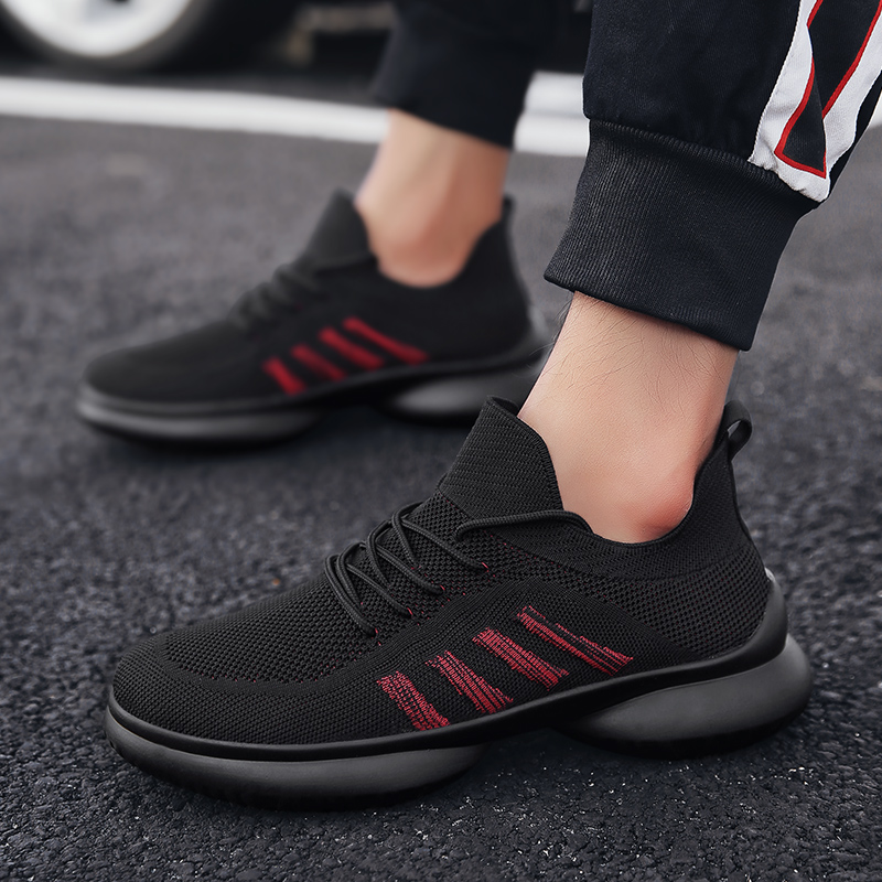 2018 Hot Selling Brand Men Casual Shoes Breathable Lace-Up Casual Shoes for Men Summer Lightweight Comfortable Outdoor Mens Shoe