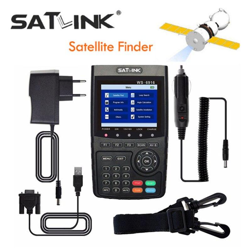 [Véritable] Satlink WS-6916 HD DVB-S2 Haute Définition Par Satellite Finder compteur MPEG-2/MPEG-4 WS6916 6916 3.5 pouce TFT LCD Écran