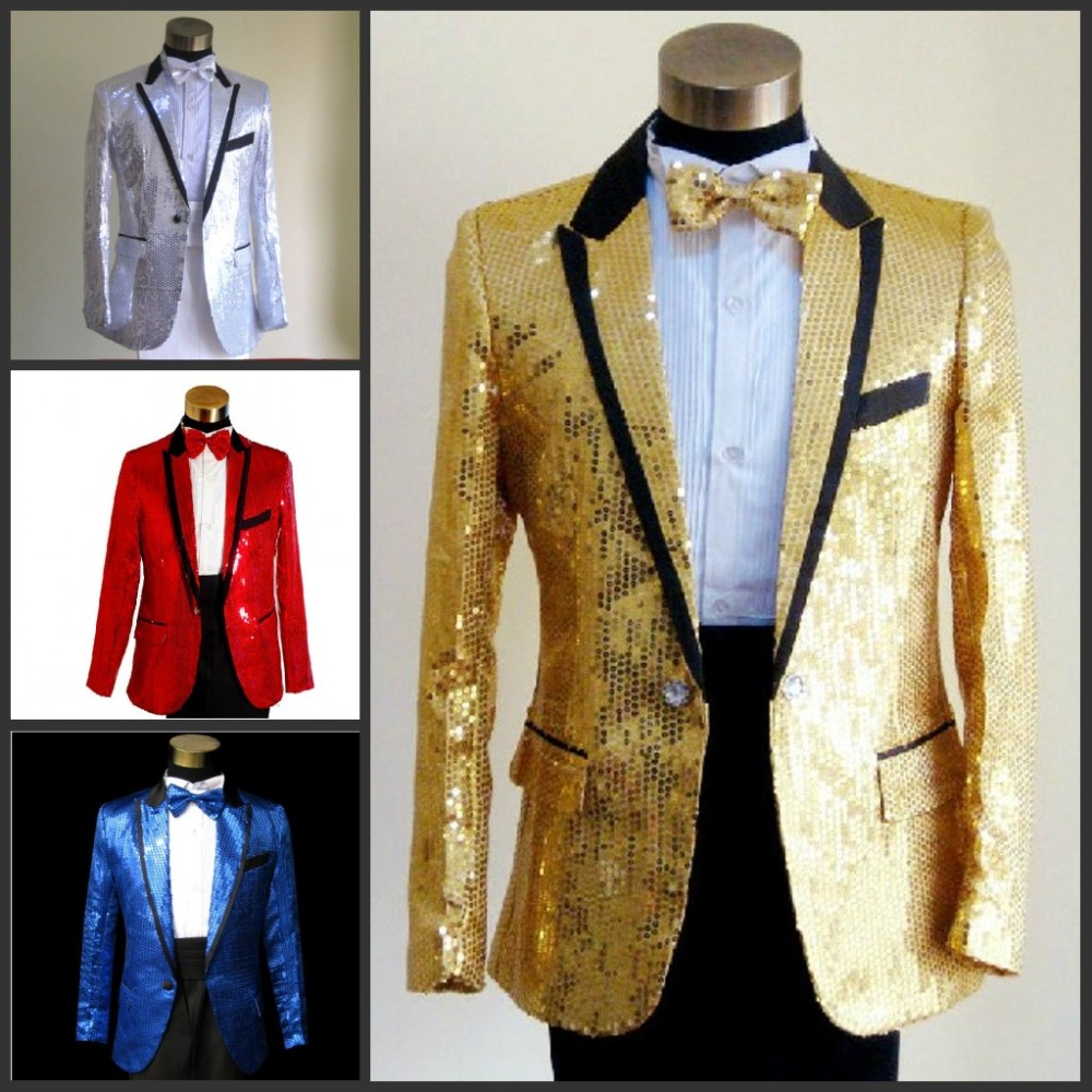 Aliexpress.com : Buy 2017 Sequins suit Wholesale Men's groom suit ...