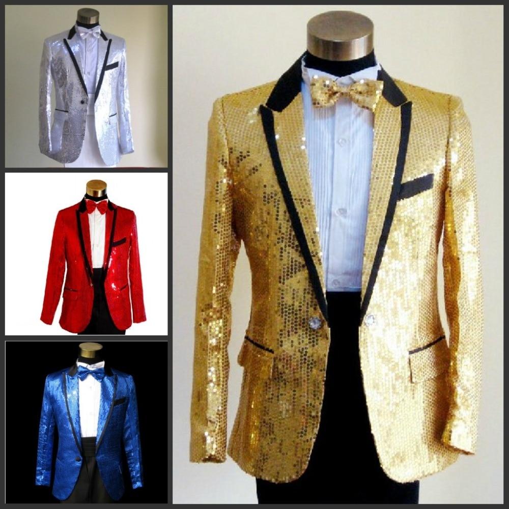 70fd4729ed3d9 2019 Sequins suit Wholesale Men s groom suit red tuxedo jacket plus size  clothing set bridegroom suit set fashion blazer prom