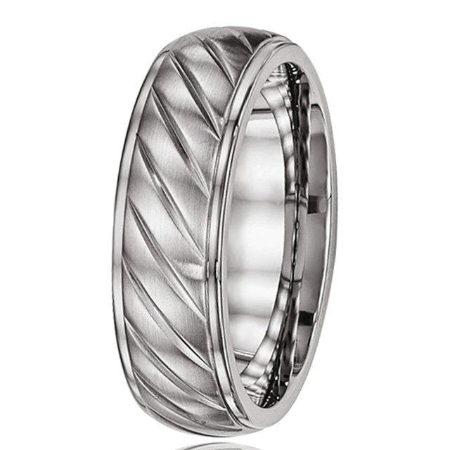 Hot Sales USA Canada AU NZ Fashion Party Jewelry 7MM Pure Titanium Mens  Womens Wedding Band