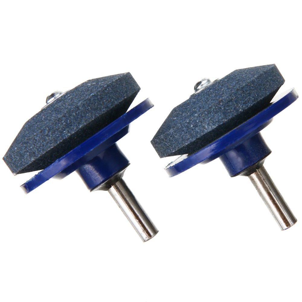 2Pcs Grinding Drill Sharpener Lawnmower Faster Rotary Drill Blade Sharpener Grinding Tool Garden Lawn Mower Parts lawnmower blade