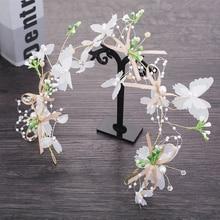 Korean new bridal headwear sweet dry wreath seaside resort Sens super fairy wedding hair accessories