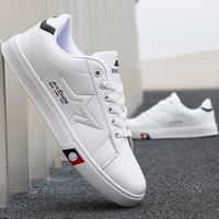 2019 Spring New Sneakers Men Casual Shoes Fashion Lace up Comfortable Wear resistant Men Shoes White Black Wild Flat Male Shoes