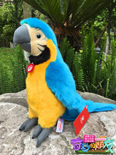 "10"" Simulation Macaw Parrot Stuffed Animal Toys Soft Blue-and-Yellow Macaws Plush Toys Christmas/Birthday Gifts"